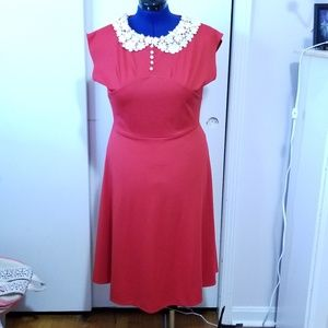 Dresses & Skirts - Darling Red Vintage Style Dress NWOT XL